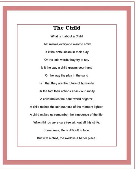 poem for child the child poem by todd kaudy children poems poem and