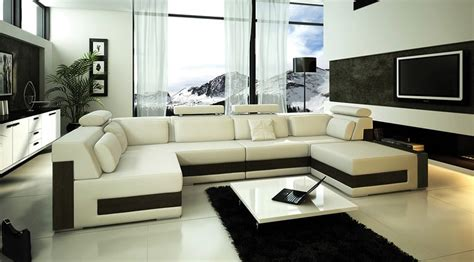 sofas modernas modern ivory leather sectional sofa tos fy796