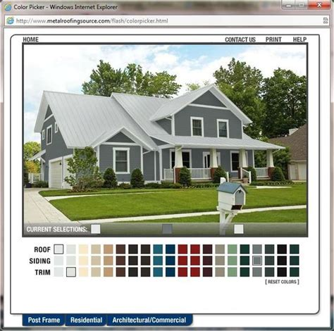 metal roofing colour picker home exterior makeover metal siding colors and sheds