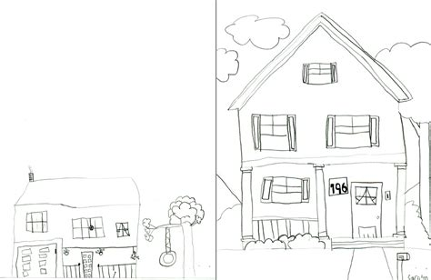 drawing of houses children s art young rembrandts kids drawings