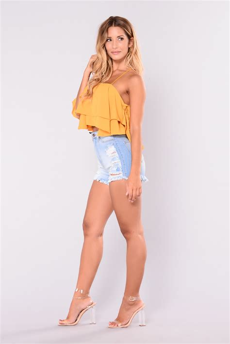 High Waisted Fashion by Summer Loving High Waisted Shorts Light