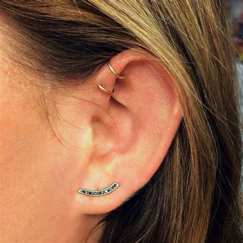 how to care for a helix or forward helix piercing double forward helix ear piercing www pixshark com