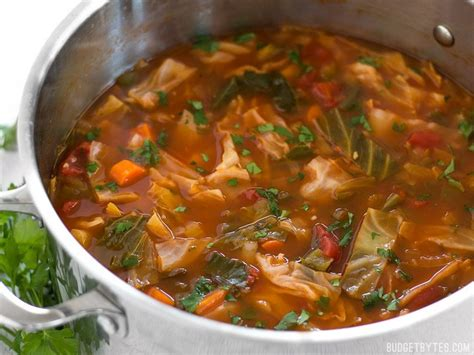 types of vegetable soups quot all you can eat quot cabbage soup vegetarian budget bytes