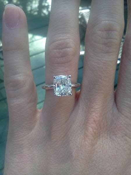 25 best ideas about solitaire cushion cut on