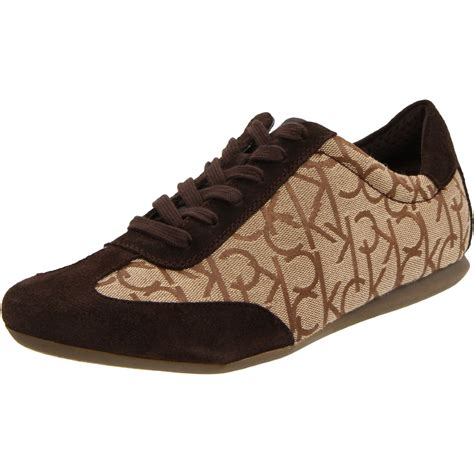 calvin klein sneakers mens calvin klein mens louie jacquard suede sneaker in brown