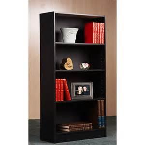 walmart 5 shelf bookcase black black 4 shelf bookcase walmart
