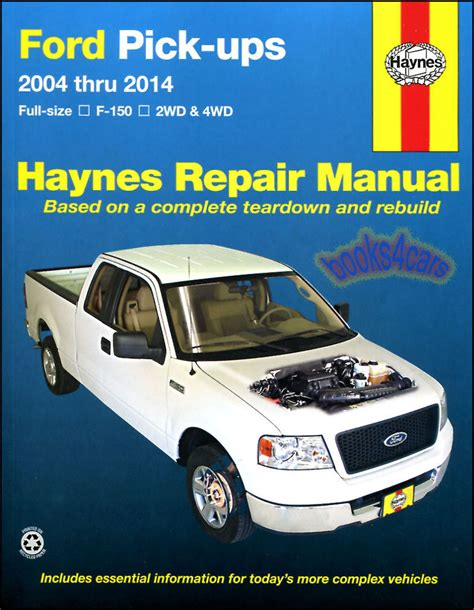 shop manual f150 service repair ford haynes book pickup truck f 150 chilton 4x4 ebay