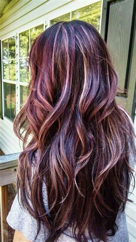 pinterest rich violets reds browns long hair paul mitchell the color violet red with highlights by