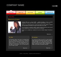 free flash site templates free one page scrolling template designed by entheosweb
