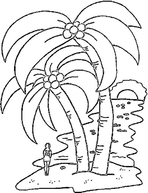 palm tree coloring pages tree coloring page coloring