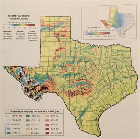 show me map of texas texas topographic prominence map shows you where to find the steepest cliffs and not