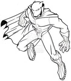 black panther superhero coloring pages sketch coloring