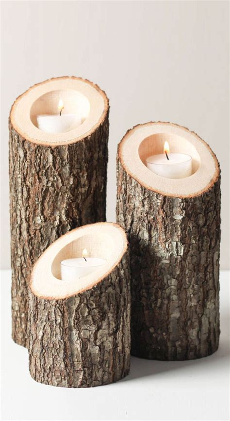 Candle In Candle Holder by Best 25 Wood Candle Holders Ideas On Log
