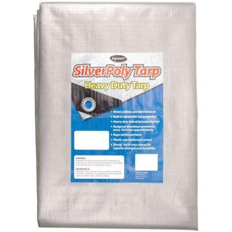 sigman 20 ft x 20 ft silver heavy duty tarp spt020020
