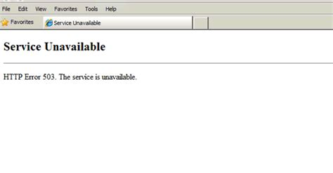 503 service unavailable error 503 maximum threads for service reached