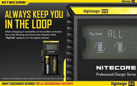 Nitecore Digicharger Universal Battery Charger 2 Slot Fo 1vbw5p Black 2 nitecore digicharger universal battery charger 2 slot for