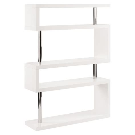hohe regale contour wide shelving white dwell