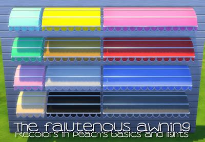 sims 3 awning my sims 4 blog the falutenous awning resized and recolors