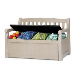 Garden Storage Bench Keter 265l 140x60x84cm Outdoor Storage Bench I N 3191075 Bunnings Warehouse