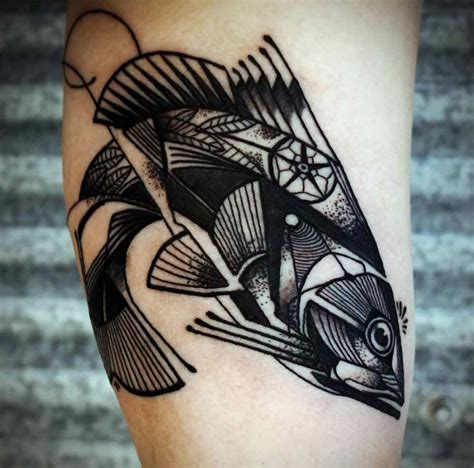 geometric animal tattoo cool geometric fish tattoomagz