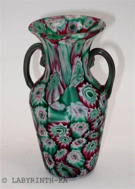 millefiori vase millefiori murrinen vase fratelli toso murano um 1910 ebay