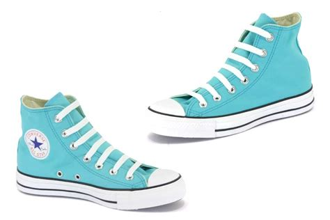 converse all hi top blue white review
