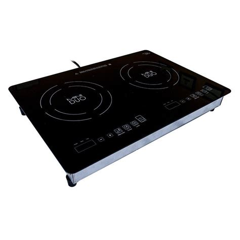 stoves with induction cooktops true induction mini duo 20 5 in glass induction cooktop