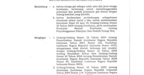 peraturan menteri kesehatan nomor    tentang