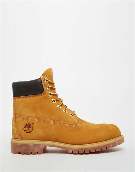 timberland classic premium boots in brown for lyst