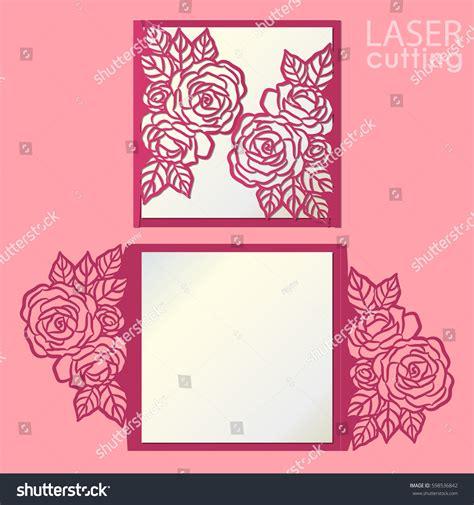 laser cut gate card template vector die laser cut envelope template stock vector
