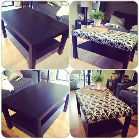 coffee table turned ottoman diy ikea coffee table turned ottoman i did it myself