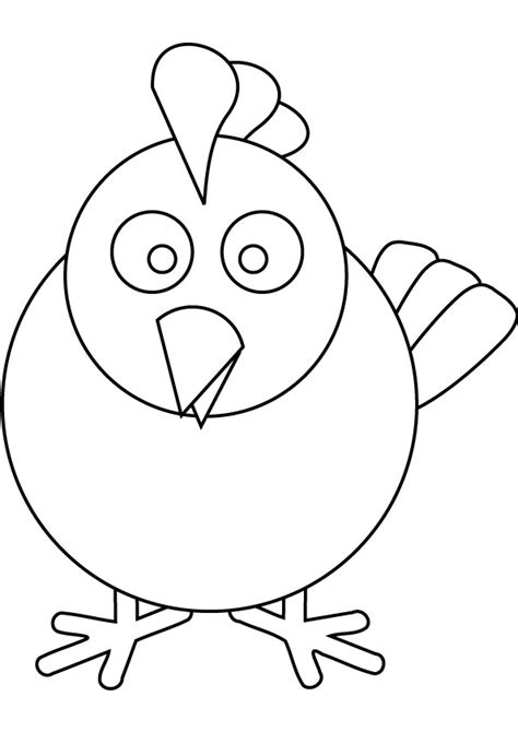 chicken head coloring page free coloring pages of chicken
