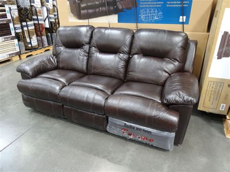 costco leather recliner sofa spectra mckinley leather power motion sofa