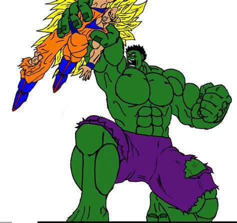 imagenes de goku vs hulk goku vs hulk by atomskkanti on deviantart