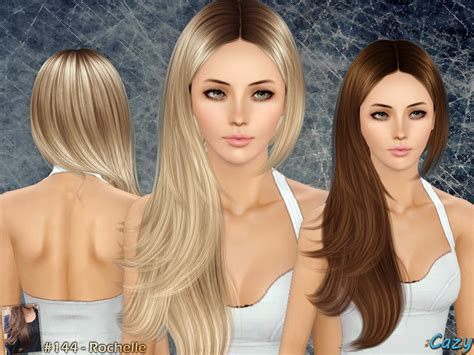 sims 3 resource hair cazy s rochelle hairstyle set