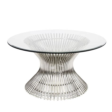 Inch Diameter Coffee Table by Worlds Away Powell Polished Stainless Coffee Table With 30