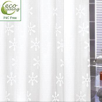 Sho Viva viva white flower pattern shower curtains eco friendly