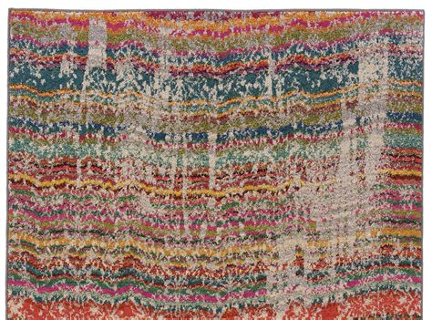Multi Color Bathroom Rugs Multi Color Faded Wave Rug Woodwaves