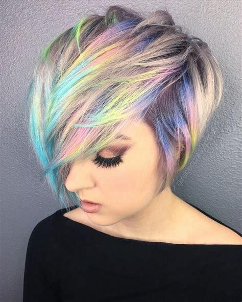 Colorful Short Hair Styles | best 25 short rainbow hair ideas on pinterest rainbow