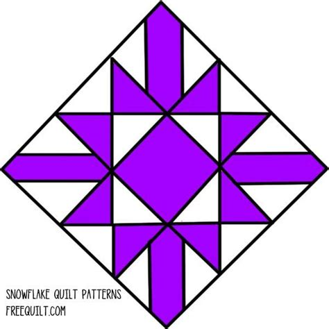 snowflake pattern block templates free snowflake quilt block pattern click on the picture