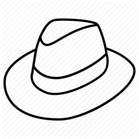 fedora hat coloring page fedora coloring pages