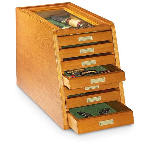 collector knife display cabinet castlecreek collector s cabinet display case walnut