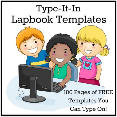 lapbook templates you can type on free type it in lapbook templates from homeschool