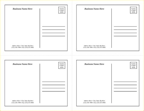 4 Postcard Template Postcard Template Word All About Letter Exles