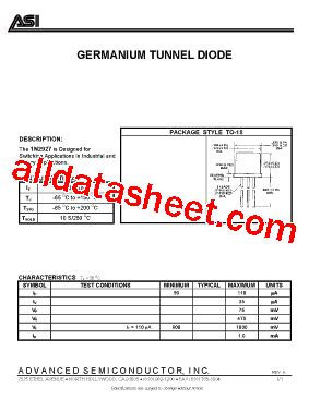 germanium diode aa112 1n2927 datasheet pdf advanced semiconductor