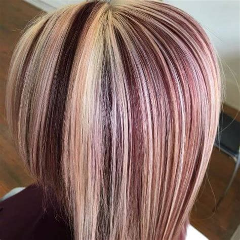 blonde and burgundy hairstyles 50 vivid burgundy hair color ideas for this fall hair