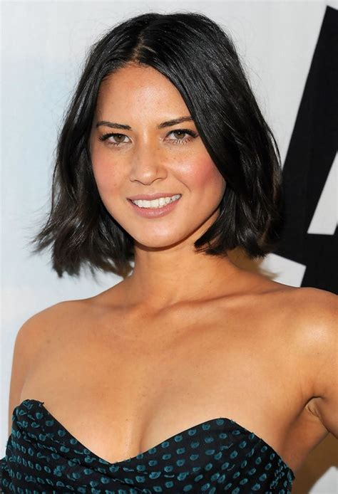 off the face hairsyles shouler length 20 chic hairstyles from olivia munn pretty designs us55