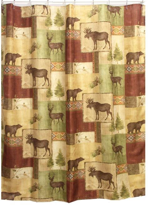 log cabin curtain ideas log cabin shower curtains curtain menzilperde net