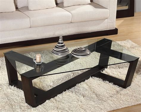 Modern Glass And Wood Coffee Table Contemporary Glass Coffee Tables Adding More Style Into The Room Traba Homes