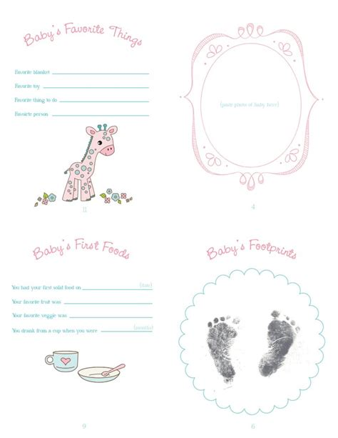 free templates for baby books baby book p2 back pdf free templates 3d printables